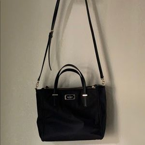 Kate spade black nylon crossbody/handbag